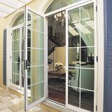 Double Leaves UPVC Breaking Door with Grills