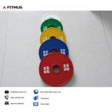 Strength Training와 Muscle Building를 위한 경쟁 Rubber Fractional Weight Plates