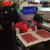 リモート・コントロールレストランの情報処理機能をもった皿配達ロボットウエーター