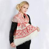 100% lã cachecol para mulheres com flocos