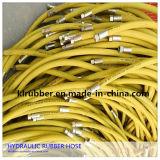 Boyau hydraulique en caoutchouc de tresse de fibre de SAE R7