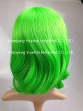 Perruque synthétique moyenne de cheveu de couleur lumineuse pour la sensation d'usager/cheveux humains