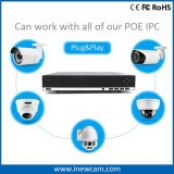 magnetoscopio della rete del CCTV di 8CH 4MP P2p Poe P&P