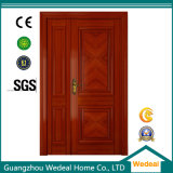 Portes intérieures en placage en chêne rouge en bois pour projets hôteliers