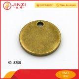 環境に優しい合金のロゴの札は金属の円形のロゴの札をカスタマイズする