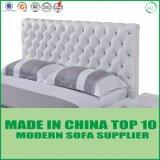 Самомоднейшая шикарная кровать неподдельной кожи конструкции для спальни