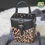 Горячая продажа провод фиолетового цвета кожи дамской сумочке Leopard в салоне мешков для леди бесплатный логотип торговой марки Си8086