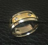 Anneau à doigts en titane en acier inoxydable design unique (TR1827)