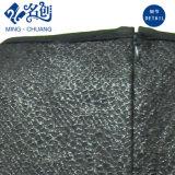 Cuello redondo manga larga negra Rear-Zipper suelta prenda de vestir chicas