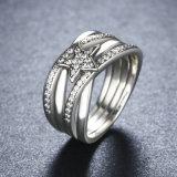 봄 수집 결혼 반지 925 순은 별 꼬이는 계산서 보석 반지