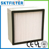 Rectángulo del filtro del separador HEPA de la fibra de vidrio