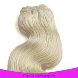Kein Mischkarosserien-Wellen-Menschenhaar-Extensions-Jungfrau-blondes Haar