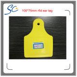 860-960MHz RFID Bauernhof-Viehbestand-elektronische Ohr-Marke für Vieh/den Kuh-Gleichlauf