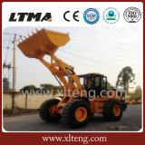任意選択エンジンを搭載する大きい7トンの中国の前部車輪のローダー