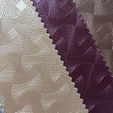 Retro cuoio del PVC di disegno del fiore per la decorazione della parete del pacchetto