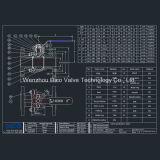 Microfusão CF8 2PC Válvula de Esfera de flange com a norma ISO 5211 Pad