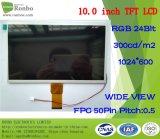 10.1 modulo dell'affissione a cristalli liquidi di alta qualità TFT di pollice 1024X600 RGB 50pin 300CD/M2