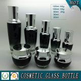 Bouteille de sérum noir vide 30 ml 50 ml de récipient cosmétique en lotion