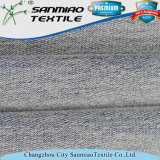 Alta qualidade Azul claro 270GSM Francês Terry Knitted Tecido de ganga para Jeans