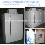 Einzelne Tür eingesackte Eis-Gefriermaschine DC-380/DC-420 mit Kleinkapazitäts