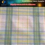 Tela teñida de las camisas de los hombres del Spandex de la verificación de los hilados de polyester