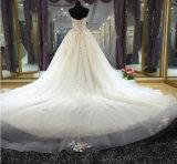 Vestido de casamento Handmade macio do vestido de esfera do estilo 2017 novo com flores coloridas