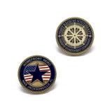 regalo de promoción de la policía de la moneda de oro de la Marina Desafío Eagle Monedero recuerdos