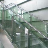 Barandilla del pasamano de la escalera de la gafa de seguridad para la decoración de interior