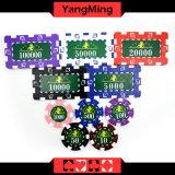 2016 projetar/a caixa de alumínio Ym-Fmgm001 das microplaquetas do jogo de cartão 760PCS do jogo do chipset do póquer estilo de Marco