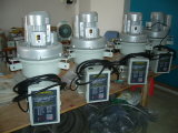 Pellets de plástico de reciclagem automática de vácuo do funil de máquina de pá carregadeira
