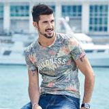 Les plus défuntes chemises 100% d'été de coton d'OEM de modèle de vente en gros pour le T-shirt rond de collet des hommes