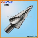 Morceau de foret spiralé d'opération d'acier à coupe rapide de cannelure