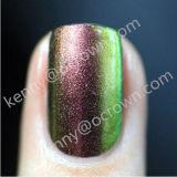 Camaleón que cambia de color metálico en polvo de pigmento de esmalte de uñas