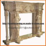 Mensola del camino femminile Mf1724 del camino del marmo della statua