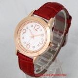 Het mooie Horloge van de Kwart gallon met de Riem van het Leer voor Dames Fs 427