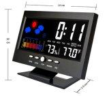 온도 감지기를 가진 다채로운 LED 기상대 시계