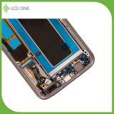 Агрегат экрана касания LCD замены для цвета золота края Samsung S7 с рамкой