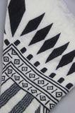 女性アクリルの編まれたスカーフ、スカーフのスカーフ、女の子の冬のショールの方法Accssory