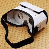 Realidad virtual polarizada de los vidrios 3D de Vr de la cartulina video del rectángulo