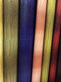 Couro colorido da mobília do plutônio do crocodilo com alta qualidade