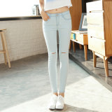 Vente en gros Stretch Lady's Dirty Denim Jeans