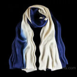 Sciarpa di seta pura lunga di stile di modo con colore di degradazione (HP08)