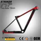 Frame Superlight da bicicleta da montanha da fibra do carbono do OEM 26er 27.5er T800