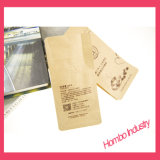 과자를 위한 플라스틱에 의하여 박판으로 만들어지는 Kraft 음식 종이 봉지 또는 커피 또는 초콜렛 또는 차 또는 칩