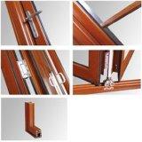 Porte pliante en aluminium double vitre avec écran