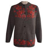 Gn 1640 Yak de la mujer y de lana mezclada de punto chaqueta de punto