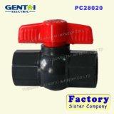 Válvula da linha da válvula de esfera do PVC da alta qualidade