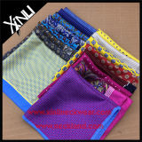 Promoção por atacado de seda Custom Print Pocket Square for Suit