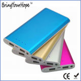 10000mAh тонкий металлический банка с 2 USB-выход питания (XH-PB-241)