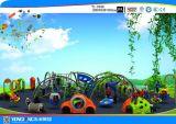 Glückliches und lustiges Spielplatz-Vergnügungspark-Plättchen